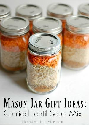mason jar curried lentil soup
