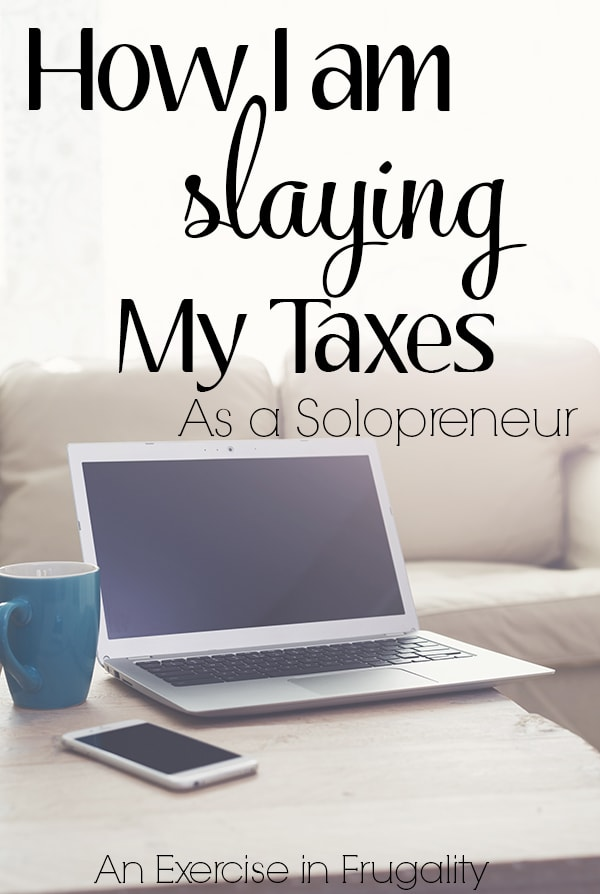 How I'm Slaying My Taxes as a Solopreneur- Tax time can be intimidating but there are things you can do to make it easier. This is a step by step guide of how I prepare for taxes as a self-employed girl boss! TaxSlayer | Ad | WAHM | Finances | business owner