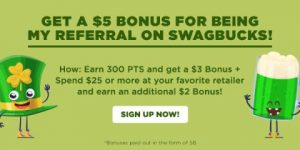 Earn a $5 bonus referral on Swagbucks!
