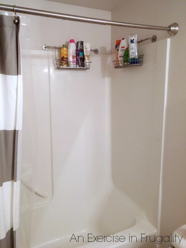 DIY Shower Organizer Hack | An Exercise in Frugality