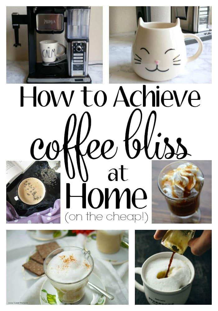 How to Achieve Coffee Bliss at Home. I am SO guilty of spending way too much money at Starbucks. Thankfully, the lovely peeps at Ninja sent me the Ninja Coffee Bar and now I am whipping up swoon-worthy drinks that would make a barista green with envy. Beats spending $10 a day on lattes!! These recipes will get you started but the possibilities are endless.