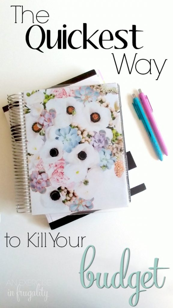The Quickest Way to Kill Your Budget-You might THINK you know why you can't make ends meet, or how to not ruin your finances, but chances are you're missing the one thing that is really keeping you broke. If you are looking to save money or stick to a budget you need to read this!