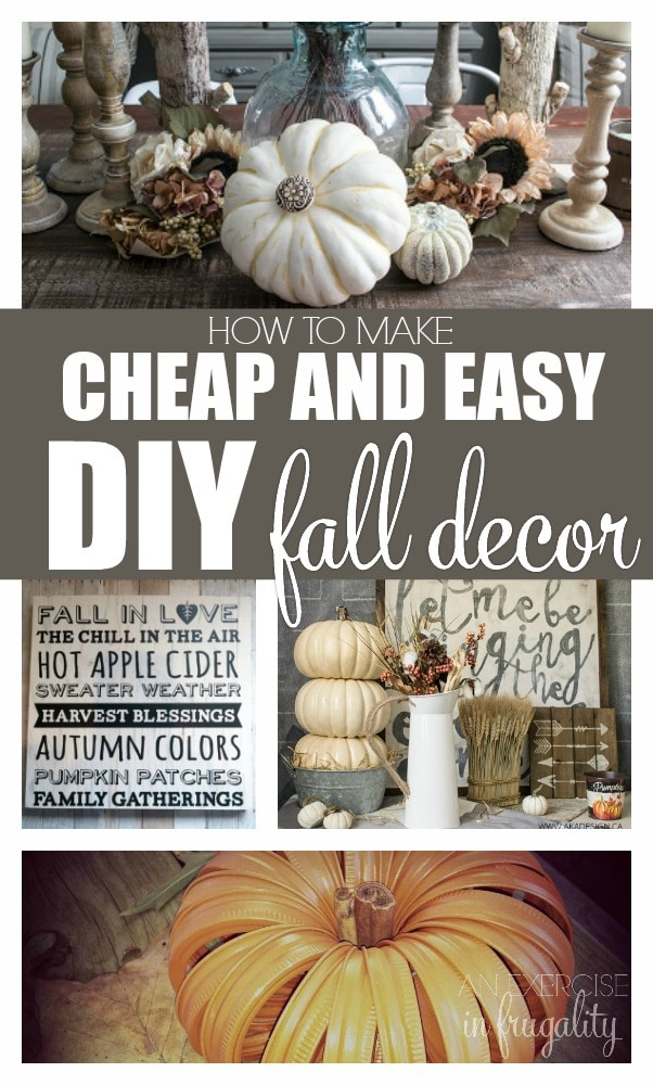 DIY Cheap and Easy DIY Fall Decor Ideas-fall is in the air! Catch that cozy hygge vibe and snuggle up with these great DIY autumn themed crafts perfect for Halloween, Thanksgiving and everything in between. So cute!