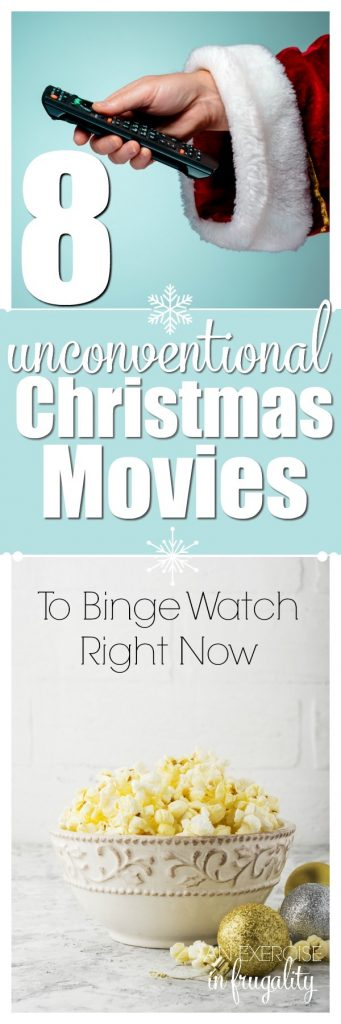 8 Unconventional Christmas Movies to Binge Watch Right Now- These movies are not your typical holiday feel-good movies, but they are definitely entertaining...and at least somewhat related to Christmas. So grab the remote, flip on Netflix, Hulu, Amazon Prime Video or grab your DVD collection. These are 8 movies you might not think of that will offer a little variety to your typical holiday movies!