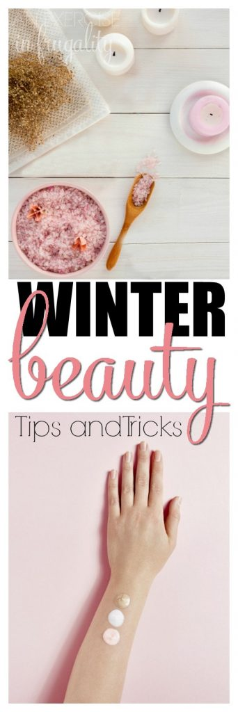 Winter Beauty Tips and Tricks- skincare and hair care tips and tricks for beauty lovers. Treat your skin and hair well throughout the winter with these simple routine changes to ensure beautiful, glowing skin and shiny, lustrious hair with natural ingredients. Makeup, moisturizers, hacks and essentials.