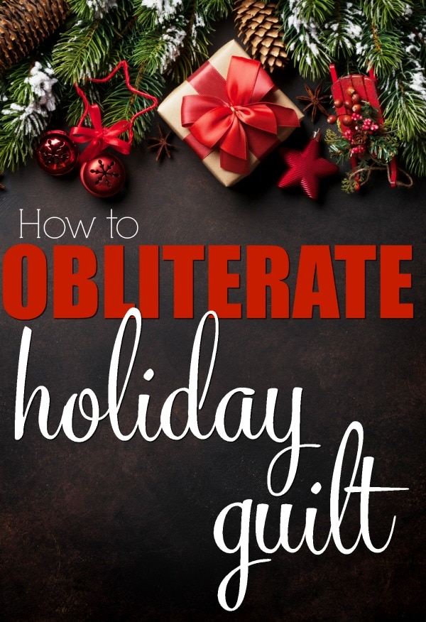 How to Obliterate Holiday Guilt- Holiday guilt comes in many forms, but you can get rid of holiday guilt with a few simple tricks. Moms, I'm looking at you. Don't let your in-laws, your children, your PTA moms or anyone else make you feel guilty this holiday season.