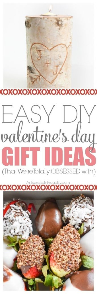 Valentine's Day is sooner than you think. If you're looking for the perfect Easy DIY Valentine Gift Ideas, then look no further! These super cute Valentine's Day gifts for him or her will show your sweetheart how much you love them! So easy, even people who aren't crafty can make these. #holiday #Valentine #ValentinesDay #love #gift #giftideas