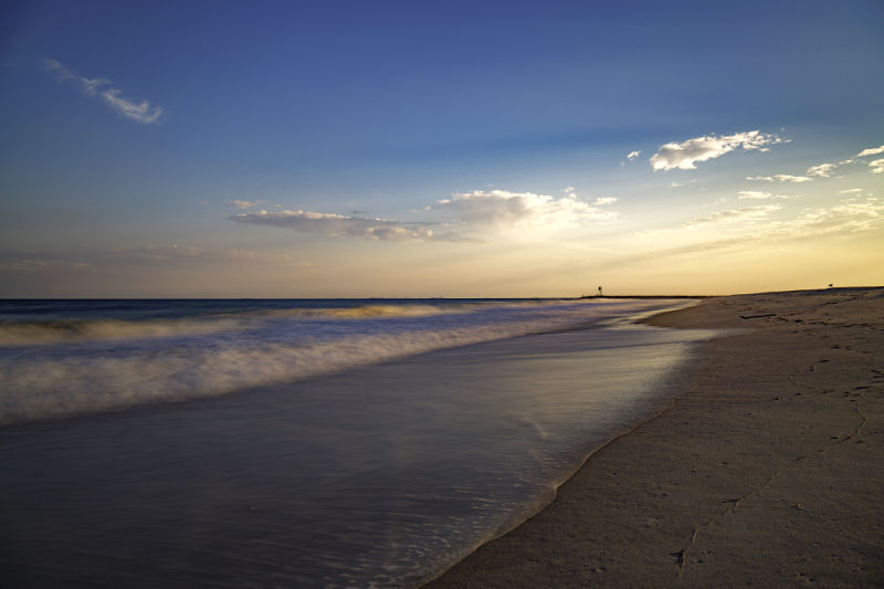 sunset at Jones Beach on Long Island, New York