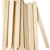 "Korlon 200 Pcs Craft Sticks Ice Cream Sticks Wooden Popsicle Sticks 4-1/2"" Length Treat Sticks Ice Pop Sticks"