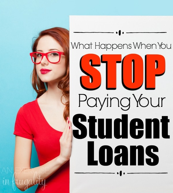 What Happens If You Stop Paying Your Student Loan Payment? Chances are if you have student loan debt, you've asked yourself this question before. This is some real talk about what happens when you can't pay your loans, how to pay your student loans, and what to do if you need help! A must read for every college student, parent and graduate!
