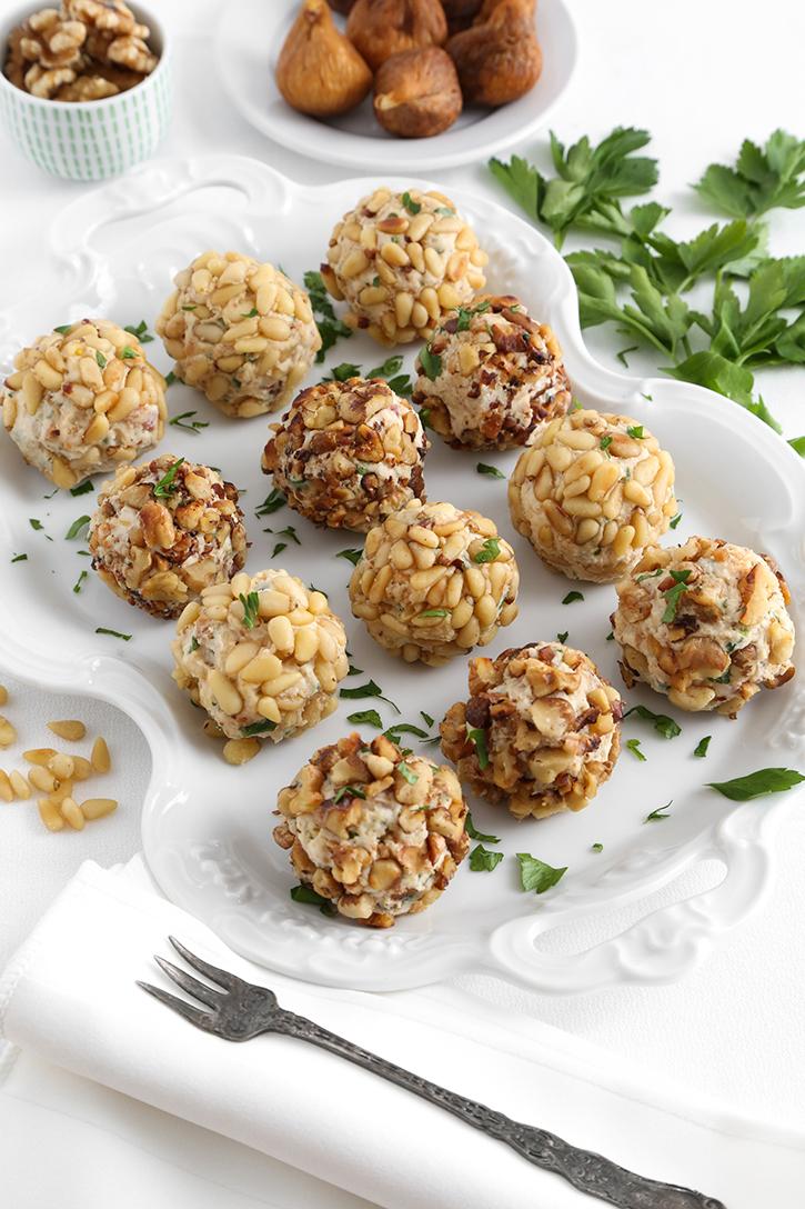 Mediterranean Cheese Ball Bites