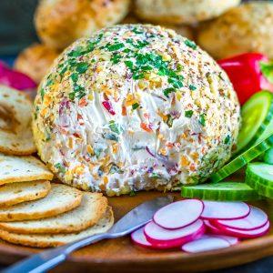 Brunch-Worthy Veggie Cream Cheese Breakfast Cheese Ball