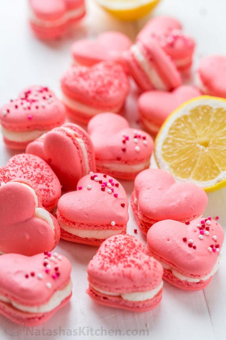 Heart Macarons with Lemon Buttercream