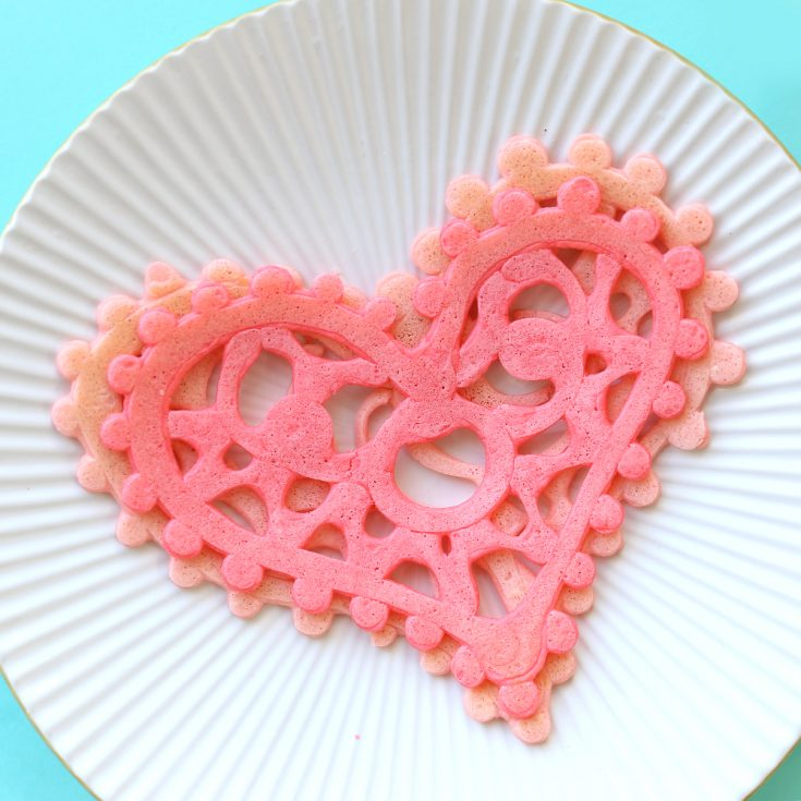 Heart Lace Pancakes